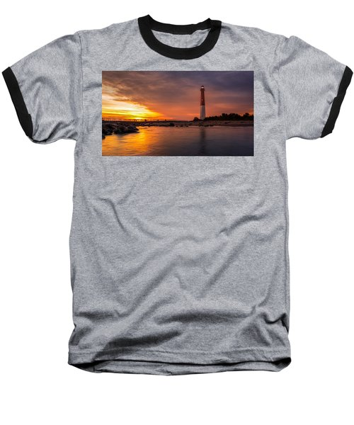 Barnegat Sunset Light Baseball T-Shirt