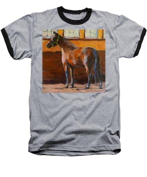Baseball T-Shirt featuring the painting Barnlight by Molly Poole