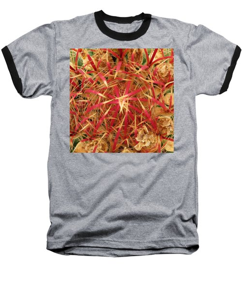 Baseball T-Shirt featuring the photograph Barrel Cactus by Laurel Powell