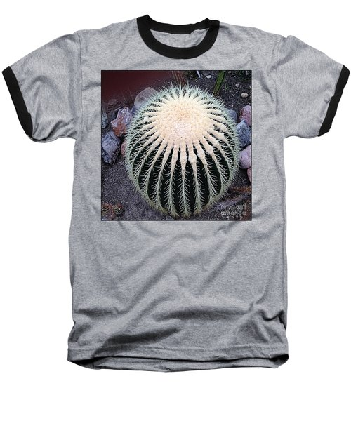 Baseball T-Shirt featuring the photograph Barrel Cactus by Luther Fine Art