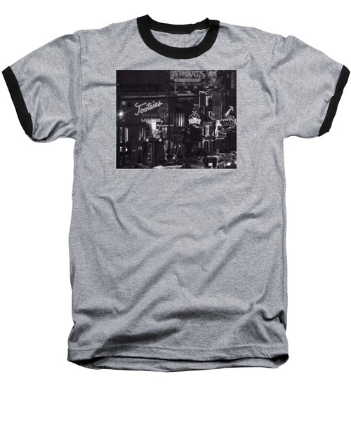 Bars On Broadway Nashville Baseball T-Shirt by Dan Sproul