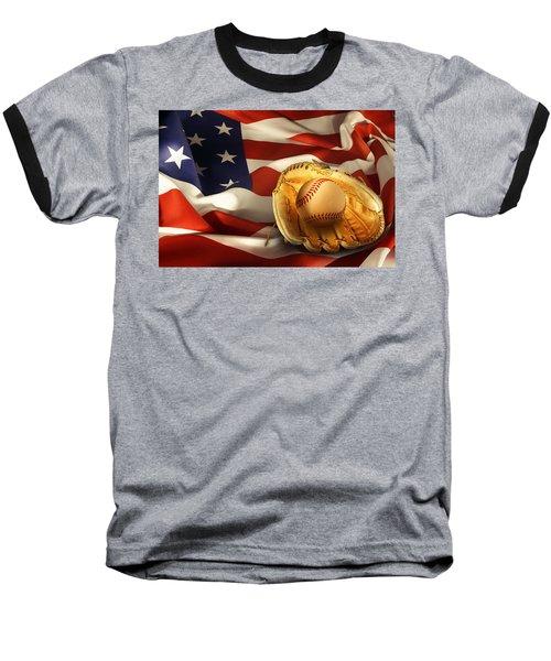Baseball Baseball T-Shirt by Les Cunliffe