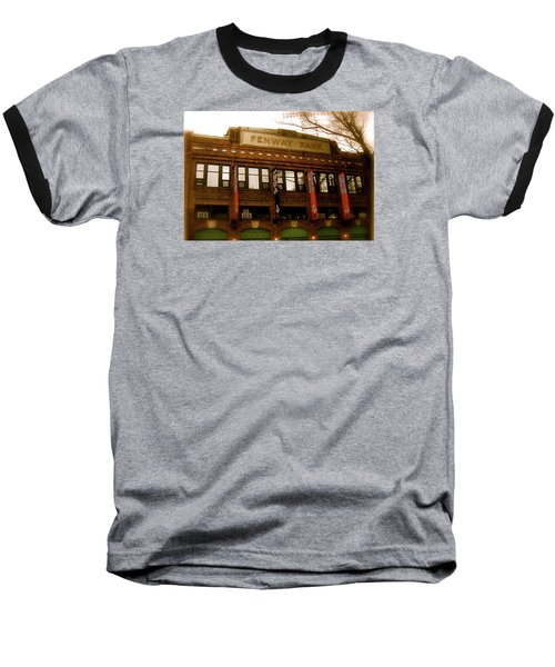 Baseball T-Shirt featuring the photograph Baseballs Classic  V Bostons Fenway Park by Iconic Images Art Gallery David Pucciarelli