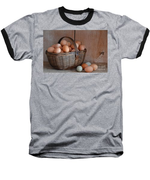 Basket Full Of Eggs Baseball T-Shirt