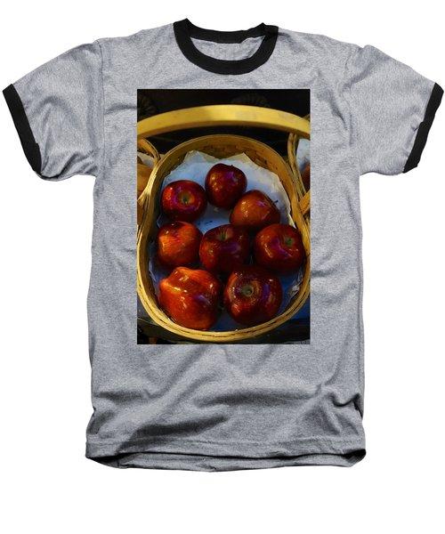 Basket Of Red Apples Baseball T-Shirt