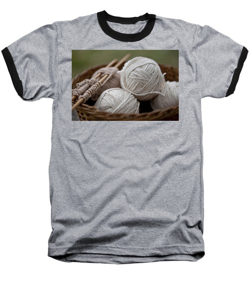 Basket Of Yarn Baseball T-Shirt by Wilma  Birdwell