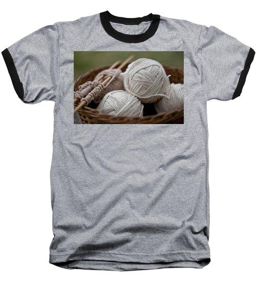 Basket Of Yarn Baseball T-Shirt