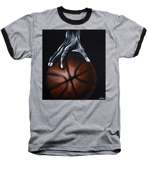 Basketball Legend Baseball T-Shirt by Dani Abbott
