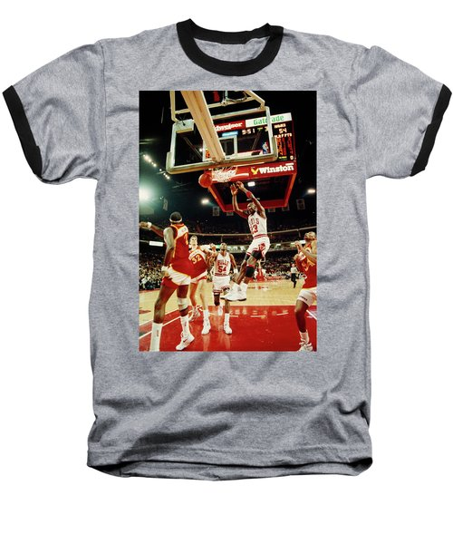 Basketball Match In Progress, Michael Baseball T-Shirt
