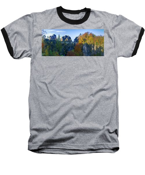 Bastei Bridge In The Elbe Sandstone Mountains Baseball T-Shirt