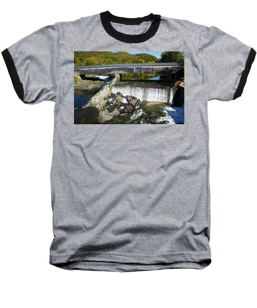 Bath Haverhill Covered Bridge In Autumn Baseball T-Shirt