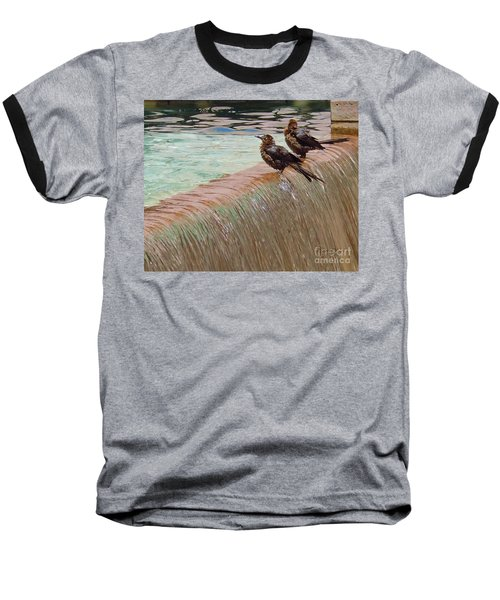 Baseball T-Shirt featuring the photograph Bath Time At The Adolphus by Robert ONeil