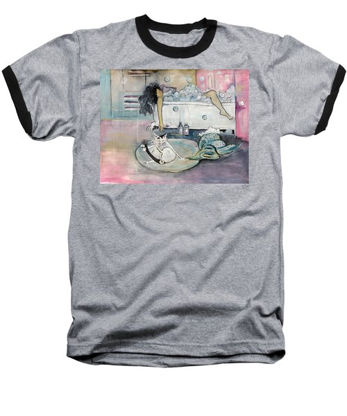 Bath Time Baseball T-Shirt by Leela Payne
