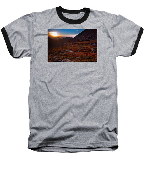 Bathing In Last Light Baseball T-Shirt by Jim Garrison