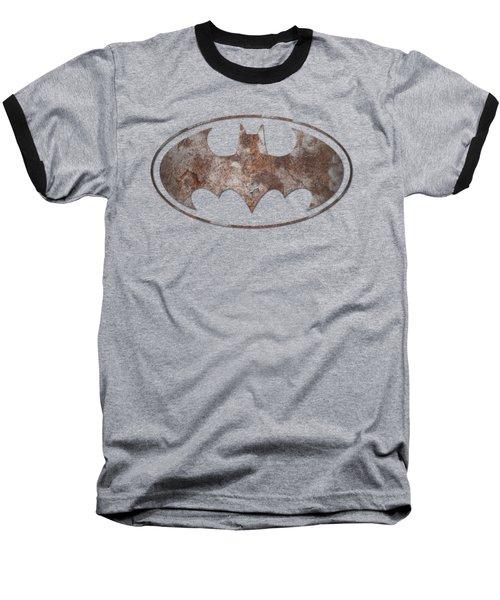 Batman - Heavy Rust Logo Baseball T-Shirt