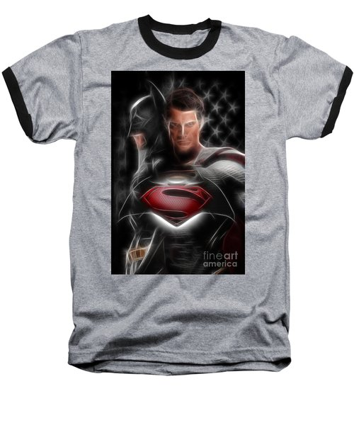 Batman Vs Superman  Baseball T-Shirt