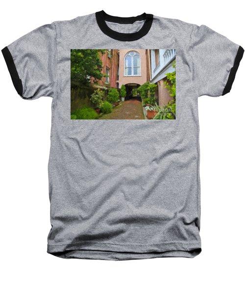Battery Carriage House Inn Alley Baseball T-Shirt