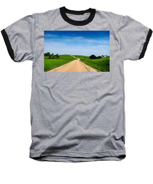 Battle Creek Road From The Saddle Baseball T-Shirt