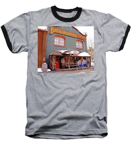 Baseball T-Shirt featuring the photograph Battle Mountain Trading Post by Fiona Kennard