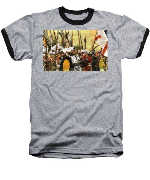Battle Of Tewkesbury Baseball T-Shirt by Ron Harpham