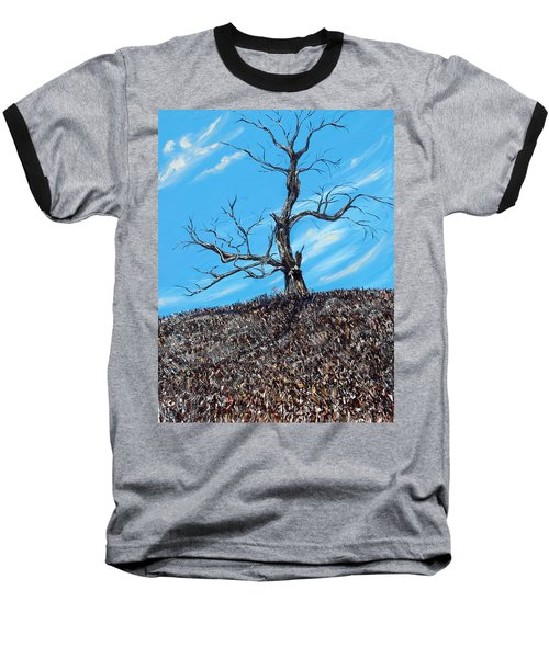 Baseball T-Shirt featuring the painting Battle Scars by Meaghan Troup