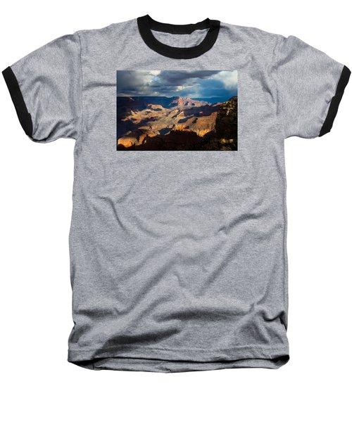 Battleship Rock In The Shadows Baseball T-Shirt