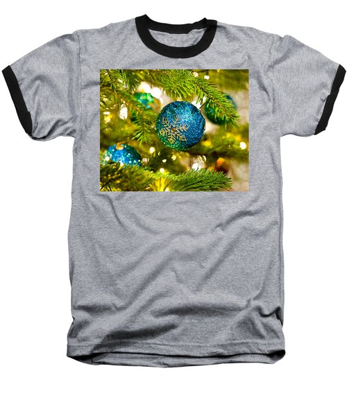 Bauble In A Christmas Tree  Baseball T-Shirt
