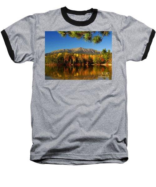 Baxter Fall Reflections  Baseball T-Shirt by Alana Ranney