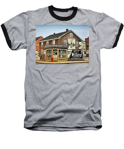 Baseball T-Shirt featuring the painting Bay And Adelaide Streets 1910 by Kenneth M  Kirsch