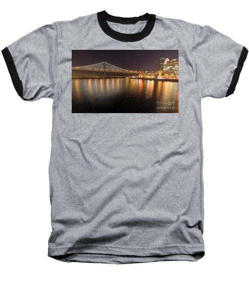 Bay Bridge Lights And City Baseball T-Shirt
