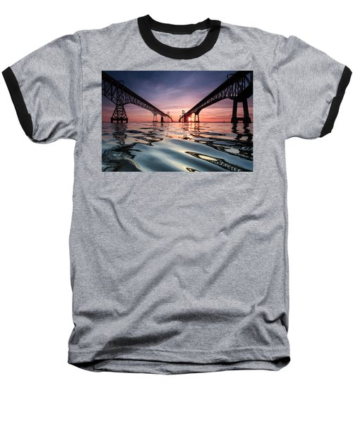 Bay Bridge Reflections Baseball T-Shirt
