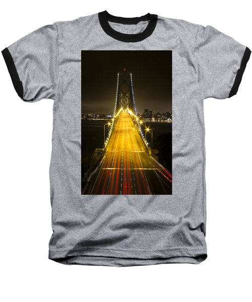 Bay Bridge Traffic Baseball T-Shirt