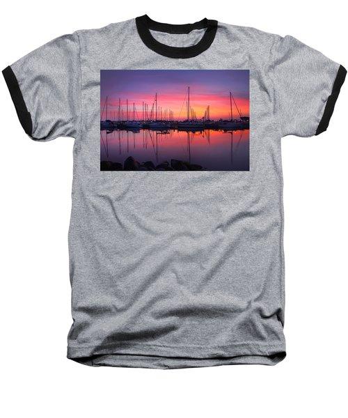 Bayfield Wisconsin Magical Morning Sunrise Baseball T-Shirt