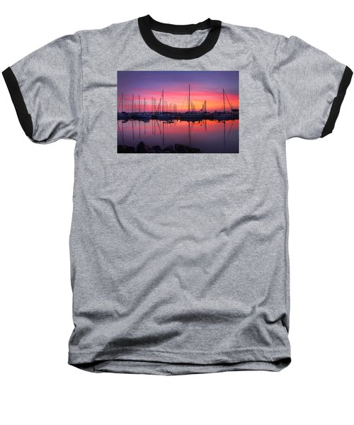 Bayfield Wisconsin Magical Morning Sunrise Baseball T-Shirt