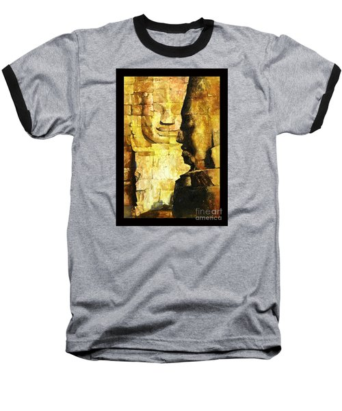 Bayon Khmer Temple At Angkor Wat Cambodia Baseball T-Shirt