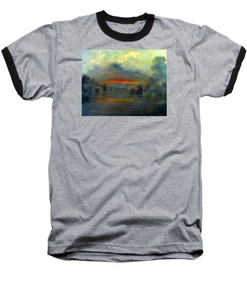 Bayou Evening 22x28 Baseball T-Shirt