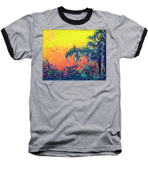 Baseball T-Shirt featuring the painting Bayou Honeymoon by Alys Caviness-Gober