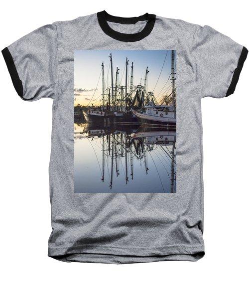 Bayou La Batre' Al Shrimp Boat Reflections 43 Baseball T-Shirt