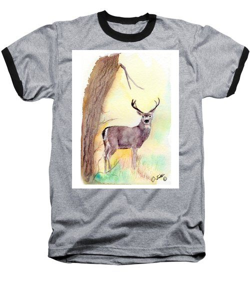 Baseball T-Shirt featuring the painting Be A Dear by C Sitton