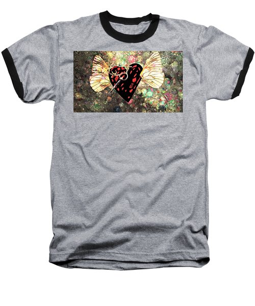 Baseball T-Shirt featuring the photograph Be My Valentine by Ally  White