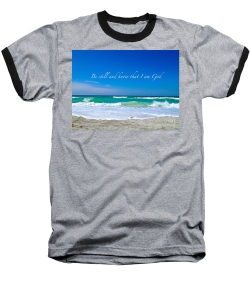 Be Still #4 Baseball T-Shirt by Margie Amberge