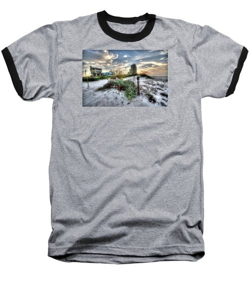 Beach And Buildings Baseball T-Shirt