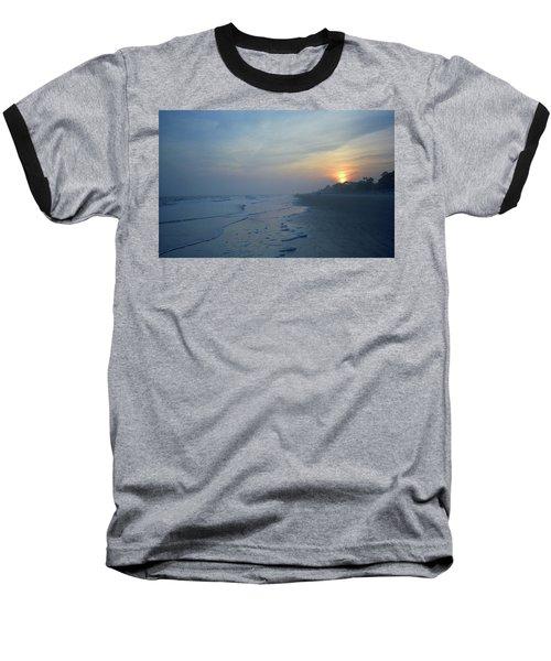 Beach And Sunset Baseball T-Shirt