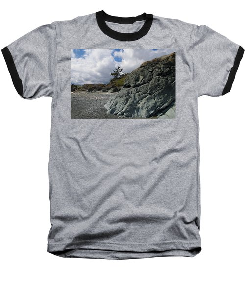 Beach At Fort Rodd Hill Baseball T-Shirt