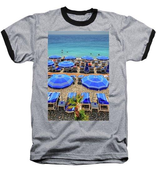 Beach At Nice France Baseball T-Shirt