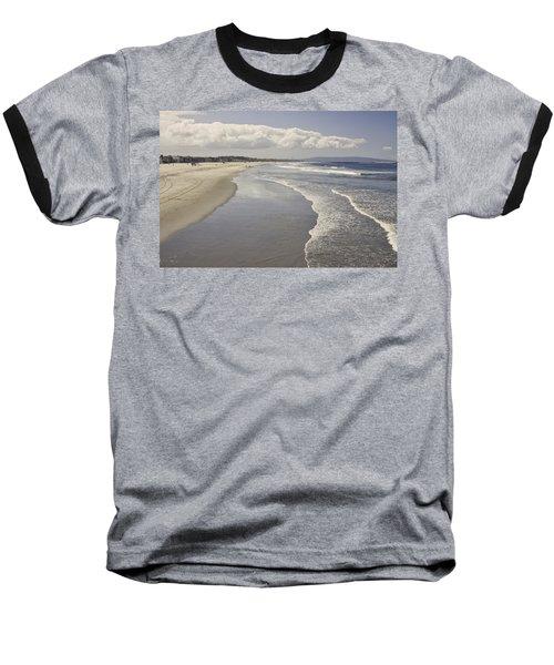 Beach At Santa Monica Baseball T-Shirt
