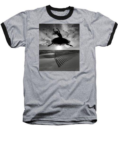 Beach Ballerina Baseball T-Shirt by Nina Bradica