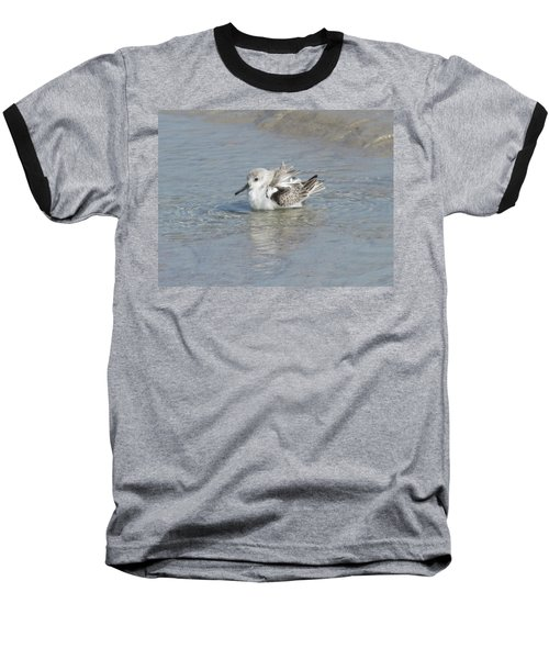 Beach Bird Bath 4 Baseball T-Shirt