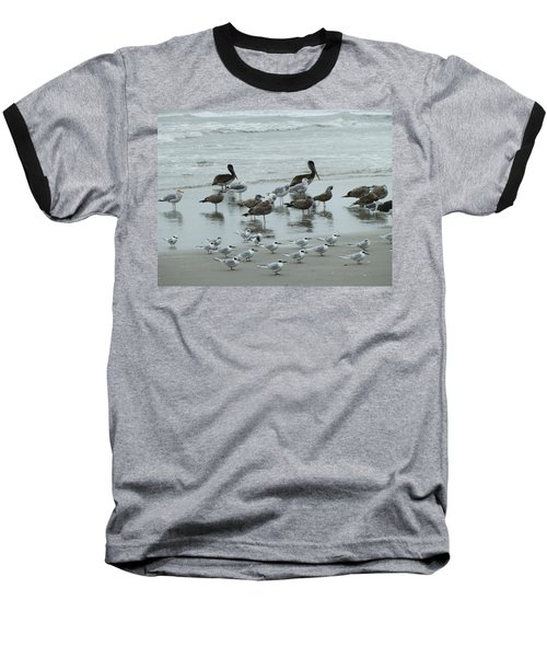 Baseball T-Shirt featuring the photograph Beach Birds by Judith Morris