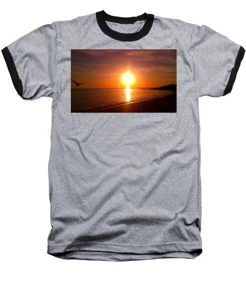 Beach Baseball T-Shirt by Chris Tarpening
